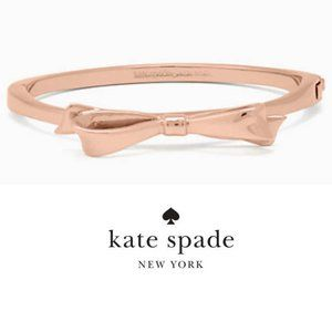 New! Rose Gold Love Notes Large Bow Bangle